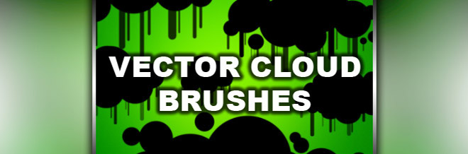 Free Photoshop Brush No.04: Vector Clouds Brushes