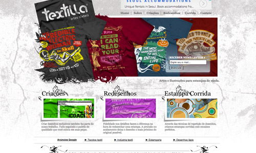 textilla grunge website