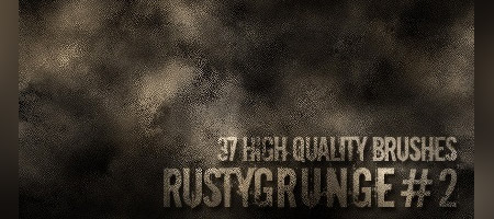 rusty grunges brushes
