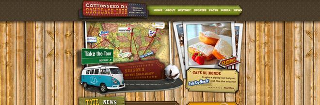 20 Inspirational Websites Using Wood Textures