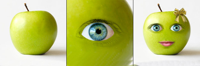 How to Create a Cute Green Apple Photo Manipulation