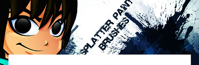 Free Download:Splatter Paint Photoshop Brushes