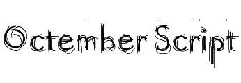 octember fonts free