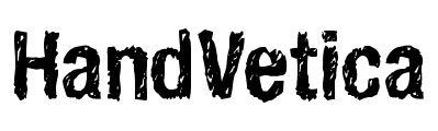 eroded hand drawn font