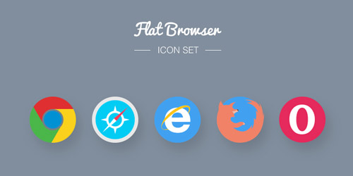 free flat browser icons