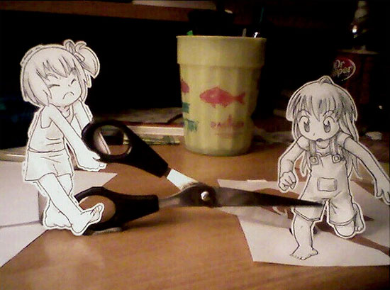 Cute and Clever Anime Paper Child Art. Below you will see some anime