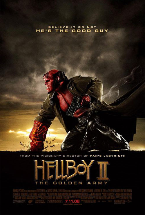 Plakat z filmu Hellboy II: The Golden Army Movie poster