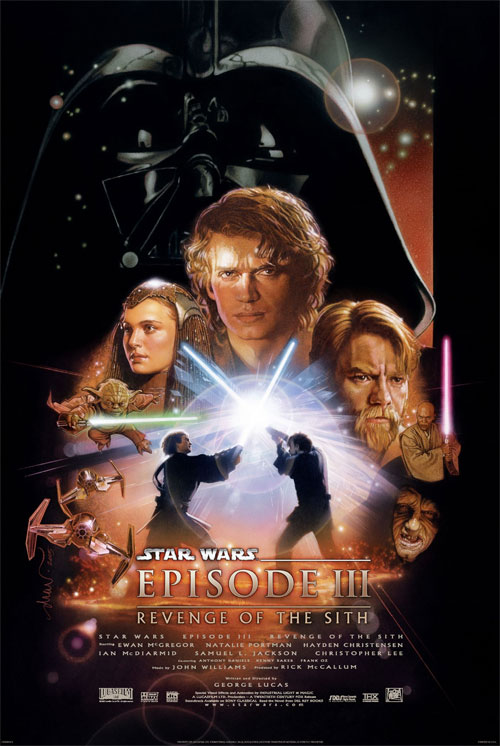 Plakat z filmu Star Wars: Zemsta Sithów (Star Wars Episode III: Revenge of the Sith Movie poster)