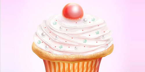 cupcake icons tutorial
