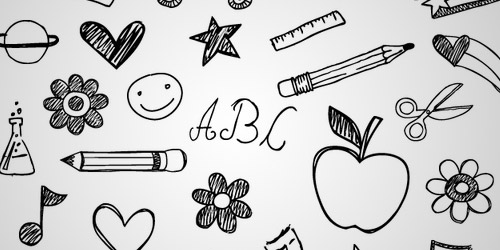 school doodle brushes