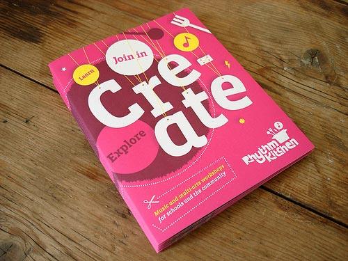 pink brochure designs