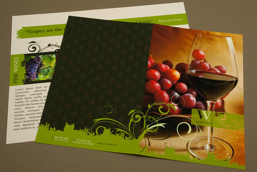 wine brochure designs