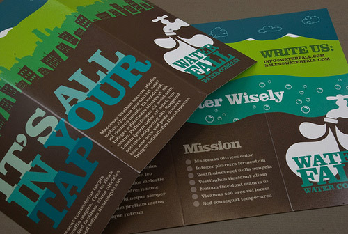 water brochure designs