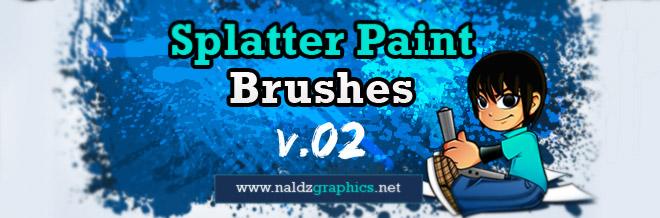 Free Download:Splatter Paint V.02 Photoshop Brushes