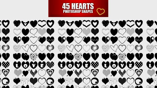 free heart photoshop custom shapes