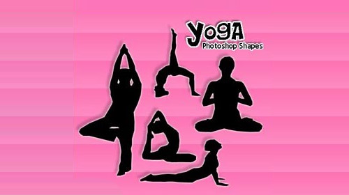 yoga custom shape photoshop