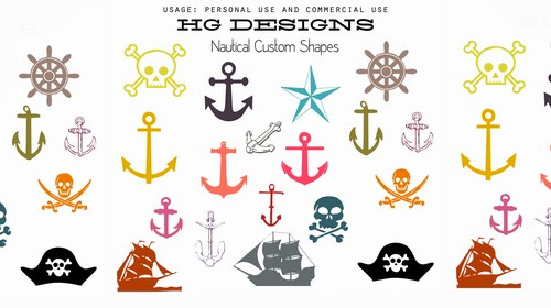 nautical photoshop custom shapes