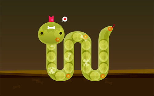 snake illustration wallpaper