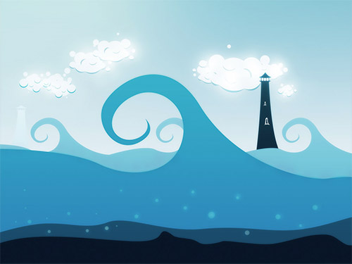 sea wallpaper illustrations