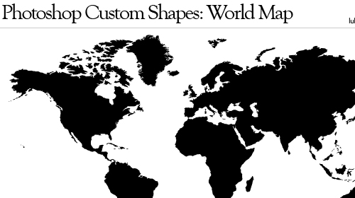 Photoshop World Map Timekeeperwatches - World map shape