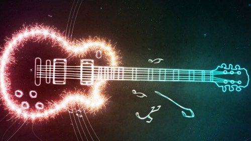 photoshop tutorial guitar light effect