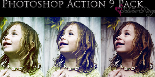 9 pack photoshop action