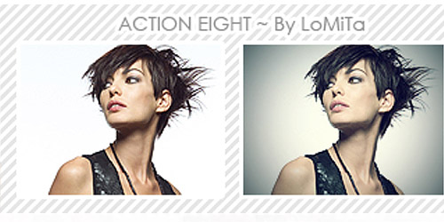 model photoshop action