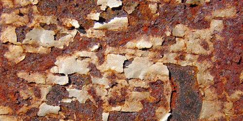 scraped rust texture