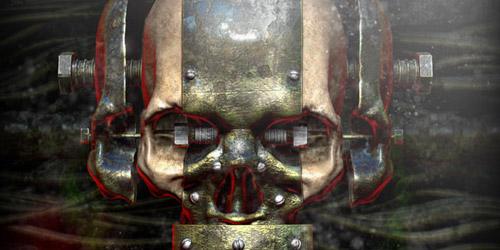 rusty skull Halloween tutorial