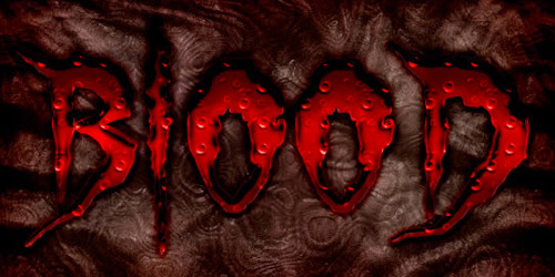 bloody text effect photoshop