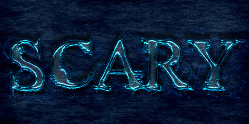 scary text effect photoshop tutorial
