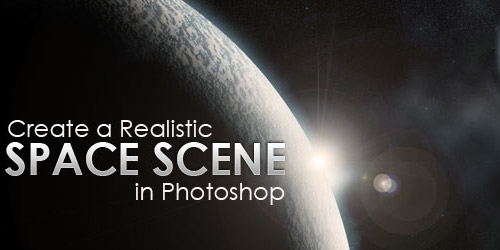 realistic space photoshop