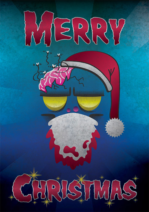 Christmas zombie poster tutorial