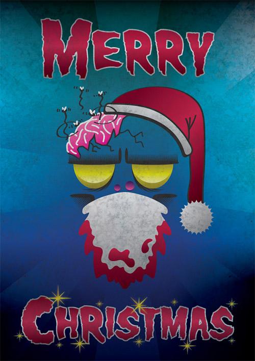 Christmas zombie poster tutorial