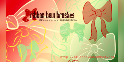 ribbon bow brushes