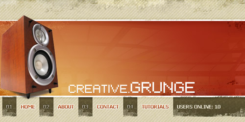 grunge layout photoshop brush tutotiral