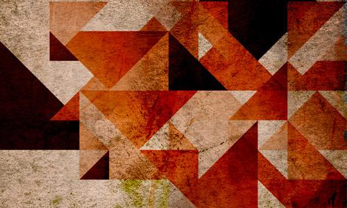 retro geometry wallpaper