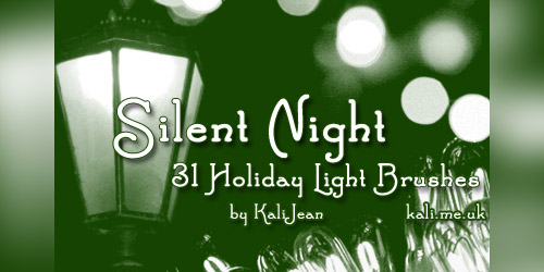 silent night holiday brushes