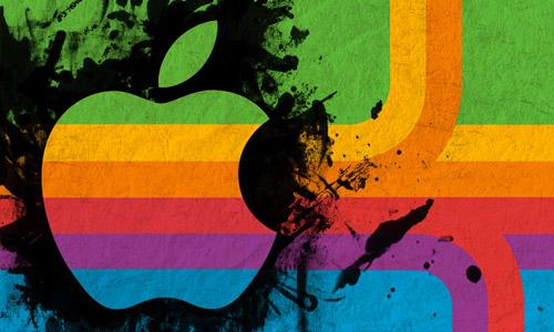 apple retro wallpaper