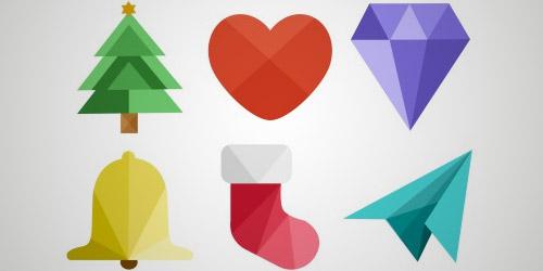 halftone Christmas icons