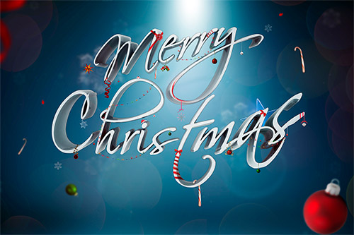 Christmas text effect tutorial