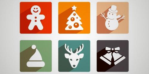 Christmas shadow icons
