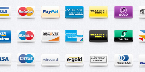 credit card icon set
