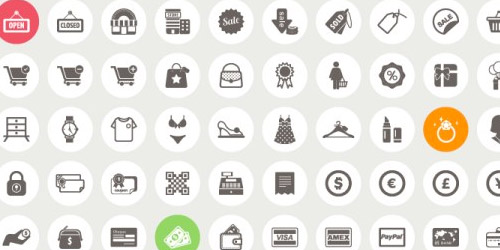 e-commerce shopping icons