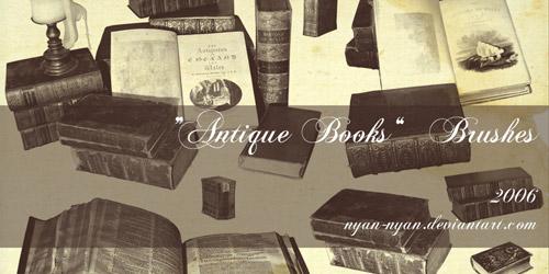 book brushes retro