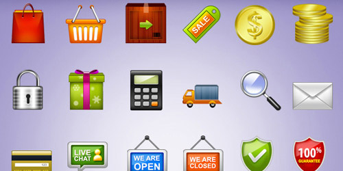 e-commerce psd icons