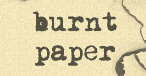 burnt paper brush