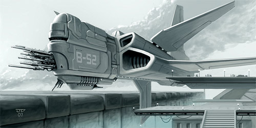 cool spaceship illustration