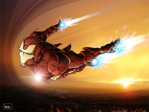 flying iron man