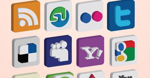 3d media icon